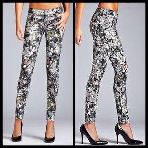Guess Kate jewel gem print skinny jeans